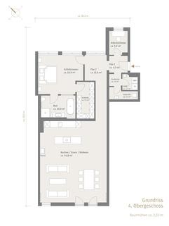 4. Obergeschoss Exquisite Stadtwohnung mit Loftambiente zum Erstbezug