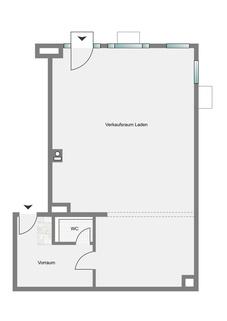 Grundriss Moderne und helle Gewerbefläche in Pasing