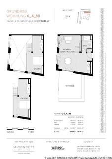 Grundriss Paseo Carre Haus 6 Whg 98 Großzügige Galeriewohnung mit sonniger Dachterrasse im Zentrum Pasings