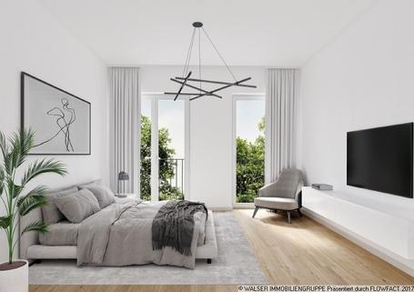 München Pasing PaseoCarre_Punkthaus_Schlafen Zentral und trotzdem ruhig: 3 Zimmer-Wohnung in Innenhoflage