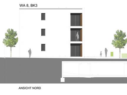 Ansicht Nord Barrierefreie 2 Zimmer Neubau - Wohnung mit Balkon