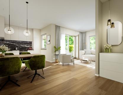 Illu Innenansicht Beispiel Neubau - großzügige Maisonnettewohnung in super Lage