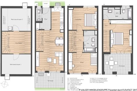 Grundriss Haus 2 VATERSTETTEN - NEUBAU: Attraktives Reihenmittelhaus mit Dachterrasse