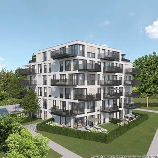 München Pasing PaseoCarre_Punkthaus_Aussenansicht Zentral und trotzdem ruhig: 3 Zimmer-Wohnung in Innenhoflage