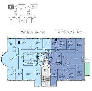 Grundriss_1 OG_BTf_286 qm_327 qm Individuelle und moderne Büros ... Für jeden Geschmack das Richtige