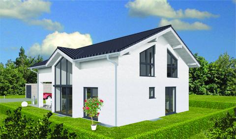 Ansicht vom Waldrand (SO) GEO WOHNBAU: Dieses freistehende Einfamilienhaus besticht durch viele Vorzüge …
