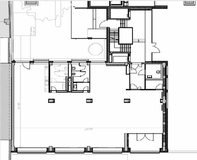 Grundriss_VDG_EG_401qm Coole Agenturflächen in revitalisiertem Gebäude