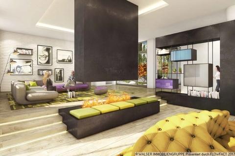 Lobby mit Kamin Innovatives und lukratives Serviced-Apartment im Gallusviertel Frankfurt!