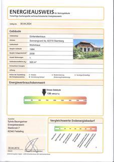 Energieausweis_Seite_1 VILLENWOHNUNG mit dem Schlüssel zum See. <br /> Mit beheiztem Außenschwimmbecken in 82319 Starnberg