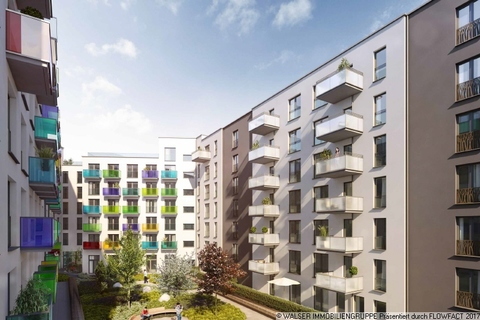 Außenansicht Hof Innovatives und lukratives Serviced-Apartment im Gallusviertel Frankfurt!