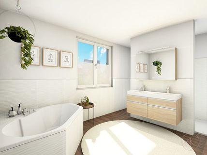 0221RG Bad 1.OG Neubau einer attraktiven Doppelhaushälfte in Großhadern-Blumenau