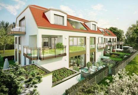 Ansicht 01 - Illustration - Änderungen vorbehalten Erstbezug - barrierefreie EG-Wohnung mit Garten