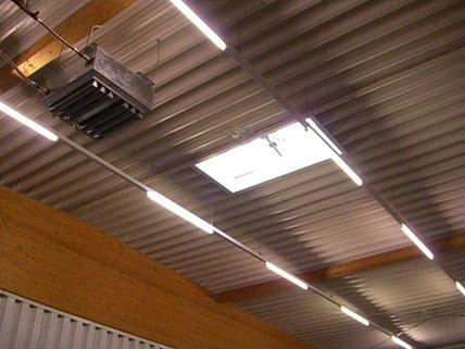 Lichtkuppel 1 - 3 Hallenabteile im GWZ BIZ Wels