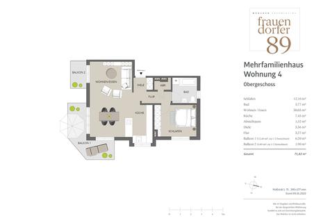 Wohneinheit 04 1. Obergeschoss Attraktives  Neubau-Mehrfamilienhaus mit 5 Einheiten zur Kapitalanlage