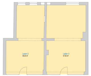 Grundrissvariante entkernt EICHLER IMMOBILIEN: Gut vermietete Ladeneinheit in der Maxvorstadt, in frequentierter Lauflage