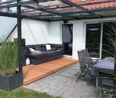 Überdachte Terrasse Schicke Doppelhaushälfte mit schönem großem Garten