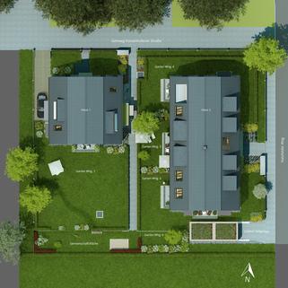 Freiflächengestaltung Erstbezug! Erdgeschosswohnung mit Souterrain in ruhiger Lage!