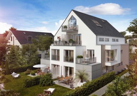 Hausansicht von Süden Einfach toll! EG-Wohnung 2 Zimmer mit Terrasse und direkt zugänglichen Hobbyraum (20 qm) mit D/WC