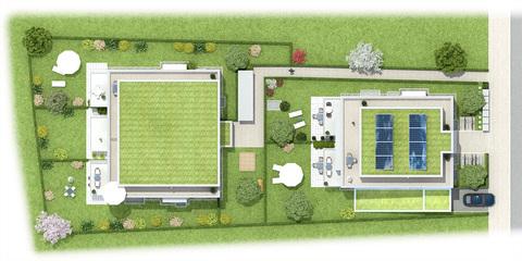 Top View Neubau: 3 Zimmer Gartenwohnung mit Hobbyraum,2 Bädern und Privatgarten!