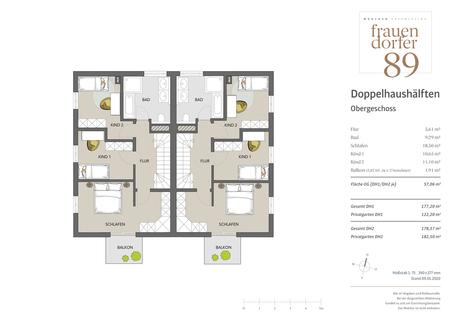 Obergeschoss Großzügiges Doppelhaus mit 5 Zimmern, Hobbybereich und Garten