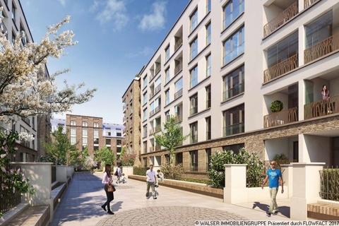 Autofreie Flanierpromenade Gallusviertel: Kompakte und aussergewöhnliche 1,5-Zimmerwohnung mit Loggia