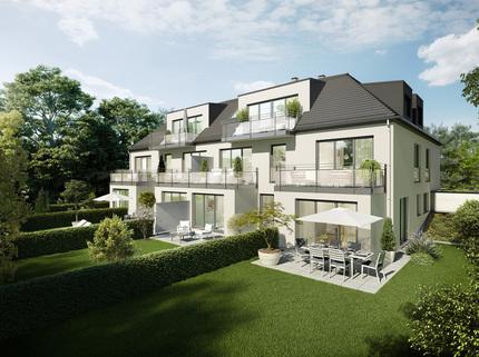 Illu G129 Gartenseite Wohnen auf zwei Ebenen mit Garten!