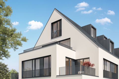 Ansicht Dachgeschoss (Illustration) Neubau: Dachgeschosswohnung mit 2,5-Zimmern und großzügiger Dachterrasse
