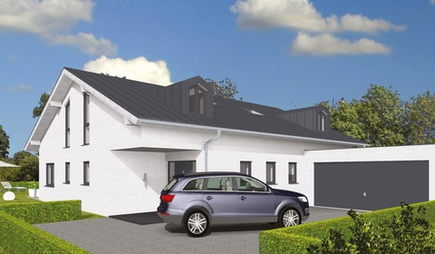 Ansicht straßenseitig GEO-Wohnbau: TRAUM-Haus auf TRAUM-Grundstück in Waldtrudering
