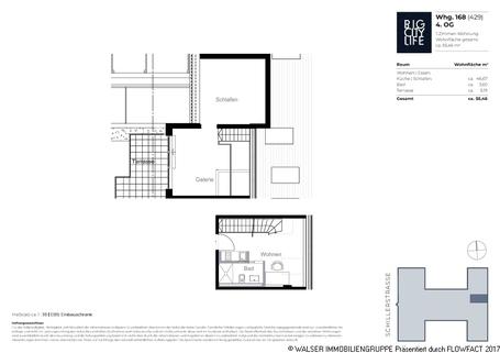 Grundriss 429 Dachterrassen-Wohnung mit extravaganter Ausstattung in optimaler Lage