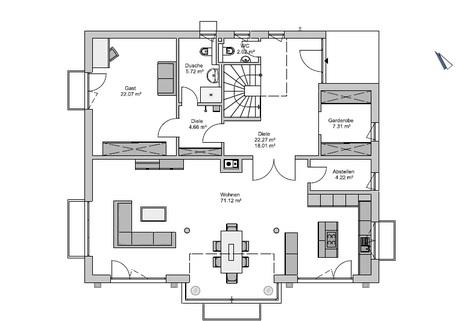 Das Erdgeschoss GEO-Wohnbau: TRAUM-Haus auf TRAUM-Grundstück in Waldtrudering
