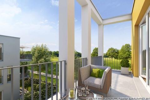 Blick vom Balkon ins Grüne Attraktive 2-Zimmerwohnung: Raumwunder mit wunderbarem Blick ins Grüne