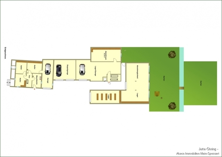EG Wohn- und Geschäftshaus mit Laden - und Lagerflächen auf 2 Etagen mit zusätzlichen Garagen!