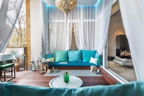 Terrasse bzw. Loggia Berlin-Friedrichshain: wunderschöne, helle 3 Zimmer Wohnung inkl. maßgefertigter Inneneinrichtung zu verkaufen