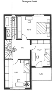 Obergeschoß Familienfreundliches Reihenmittelhaus in schöner, ruhiger Lage Ottobrunn/Riemerling