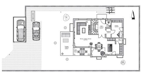 Die Lage im Baugrundstück GEO WOHNBAU: Dieses freistehende Einfamilienhaus besticht durch viele Vorzüge …