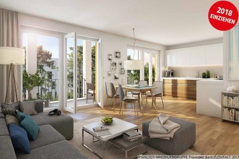 Beispielwohnzimmer Attraktive 3-Zimmerwohnung mit Blick ins Grüne