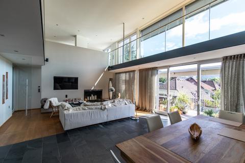 Offenes Wohnzimmer Loftartiger Wohntraum mit Galerie in exklusiver Lage Aigen