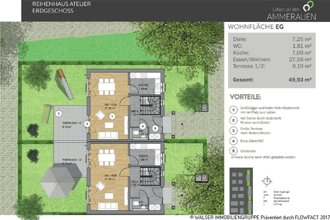 Atelierhaus EG Den persönlichen Anspruch verwirklichen: Atelierhaus mit riesiger Dachterrasse und tollem Garten
