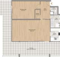 Grundriss Für Terrassenliebhaber, schöne 2-Zimmer-Wohnung mit 2 großzügigenTerrassen, Bestlage Menterschwaige