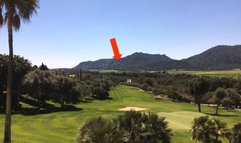 Blick vom Golfplatz Canyamel Mallorca, Costa Canyamel, Baugrundstück mit Traumblick auf die Bucht