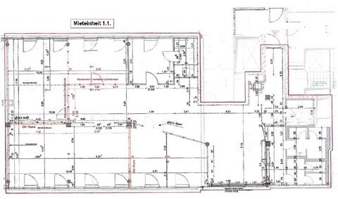Grundriss 1 OG ME B_11 360 qm Großzügig Arbeiten im Leopoldcenter