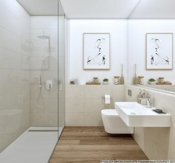 Badezimmer Großzügige Galeriewohnung mit sonniger Dachterrasse im Zentrum Pasings