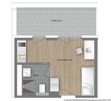 Grundrissplan Typ 20 Traumhaft: NEUBAU-DACHGESCHOSS-Apartment *NUR für Studenten und Auszubildende*