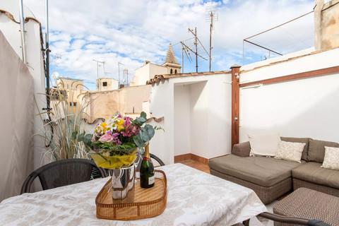 Dachterrasse Trend Zweitwohnsitz: Charmantes Penthouse mit privater Dachterrasse in der Altstadt von Palma