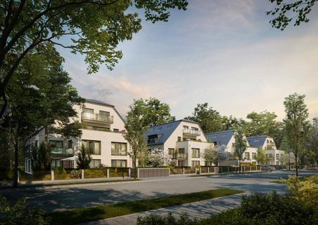 Illu Außenansicht Neubau - großzügige Maisonnettewohnung in super Lage