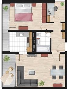 Grundriss - 2,5Z Haus 6 ** Solide KAPITALANLAGE ** Ohne Käufer-Provision! **