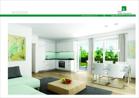 Illustration Erdgeschoss Neubau in Vaterstetten: 3-Zimmerwohnung zzgl. Hobbyraum und Privatgarten