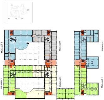 Grundriss BT3+4 2 OG Dynamisch im Münchner Osten ... Bürocampus hell, modern und neu revitalisiert