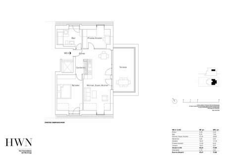 Dachgeschosswohnung 06 Neubau: Dachgeschosswohnung mit 2,5-Zimmern und großzügiger Dachterrasse