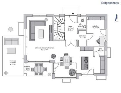 Das Erdgeschoss GEO WOHNBAU: Dieses freistehende Einfamilienhaus besticht durch viele Vorzüge …